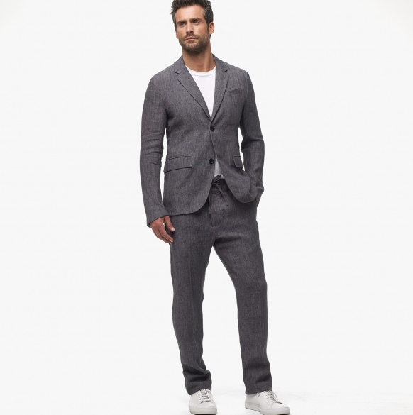 Slate Grey Linen Suit for Men