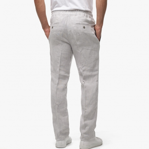 Grey Linen Beach Pants