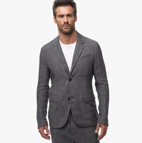 Dark Grey Linen Blazer