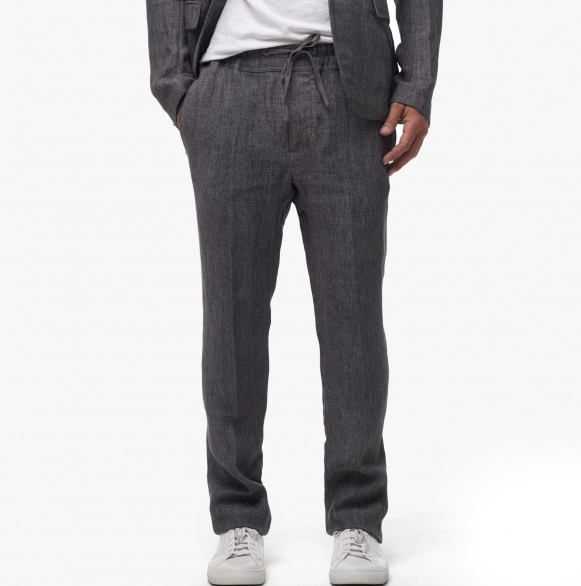 Slate Grey Linen Pants for Men
