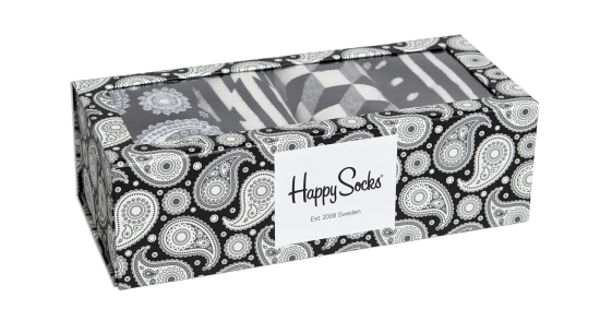 Happy Socks Black and White Gift Set