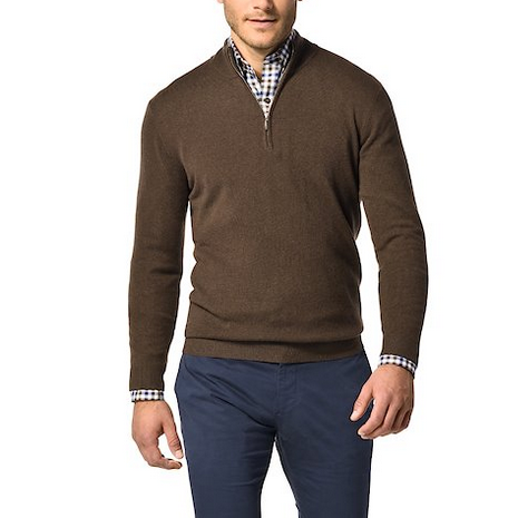 Brown Cashmere Sweater for Men