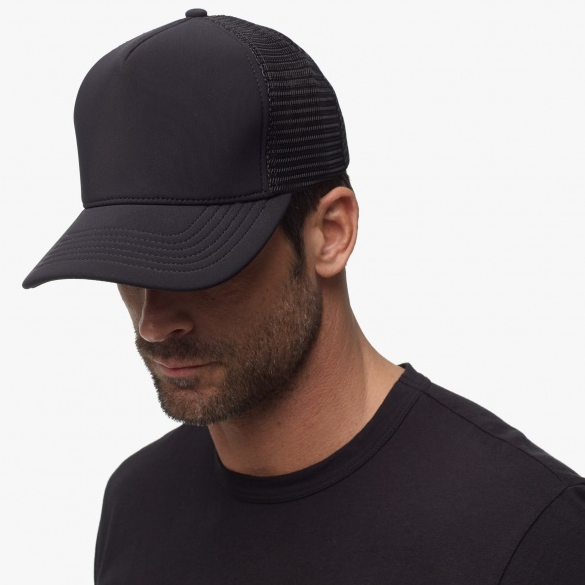 Black Scuba Trucker Hat