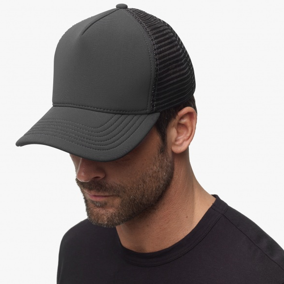 Grey Scuba Trucker Hat