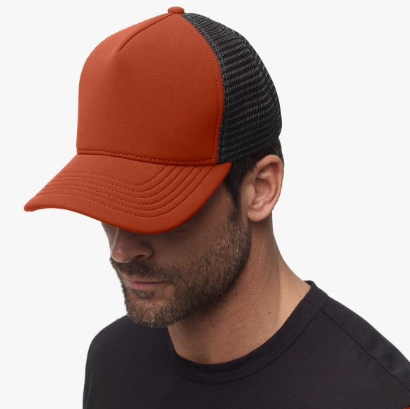 Orange Scuba Trucker Hat
