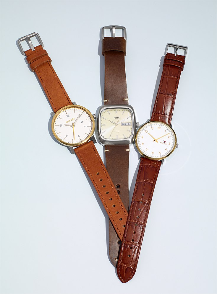 Leather Men's Watches